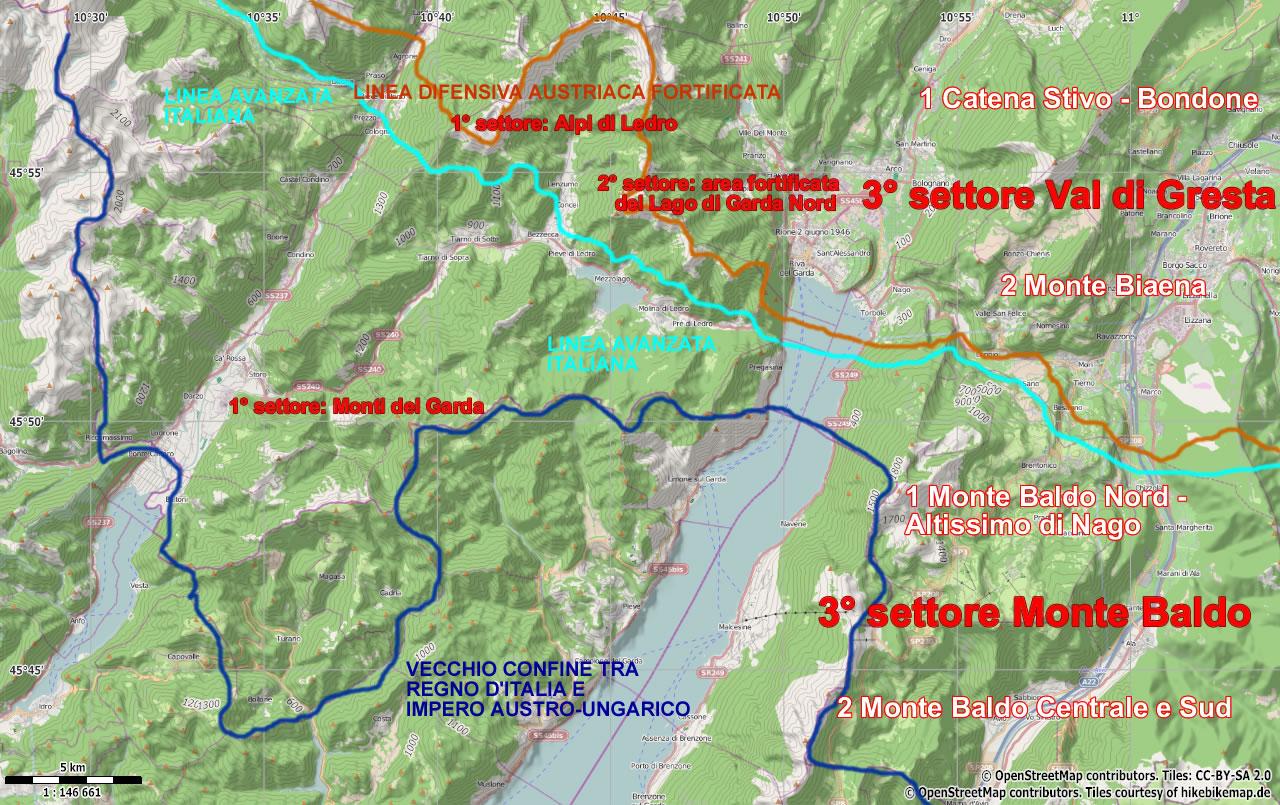Cartina Storica Prima Guerra Mondiale.Percorsi Storici Prima Guerra Mondiale Monte Baldo Lago Di Garda Escursioni